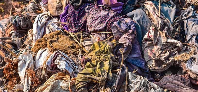 recycled material for ethically made clothing