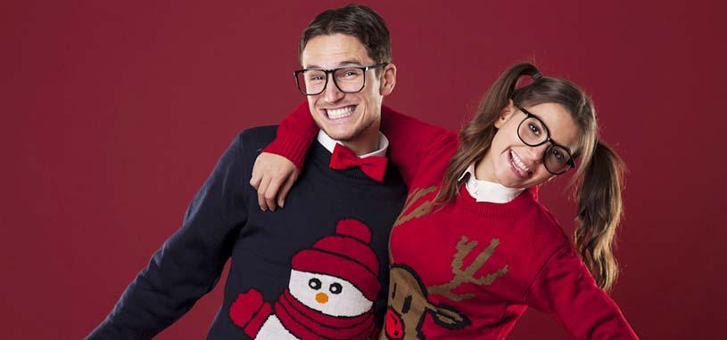 festive couple hoodies